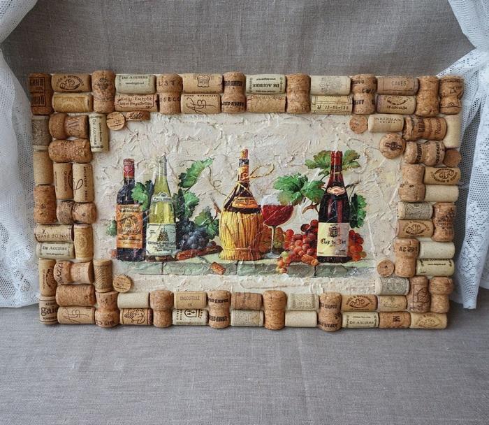 панно с пробками от вина