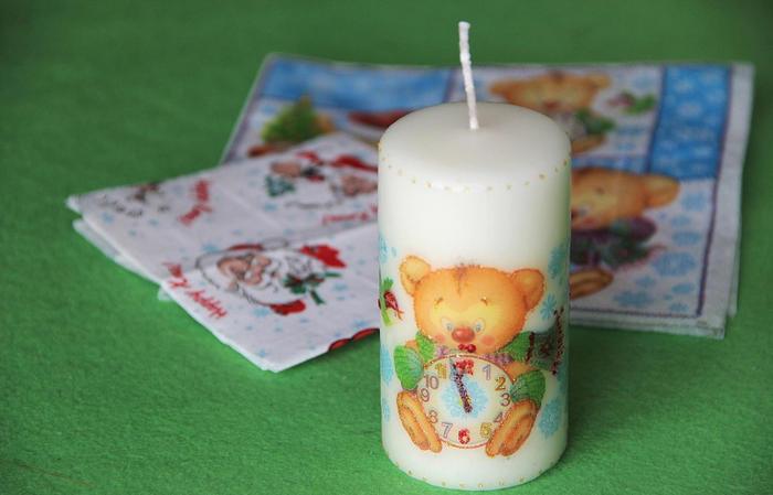 декорированная свеча 1