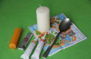 подготовка к декорированию свечи