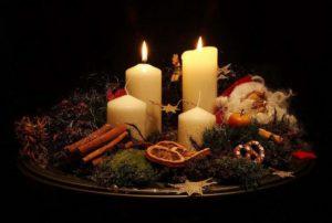 свечи с игрушками