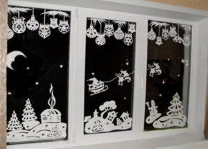 дизайн окна фигурами из бумаги