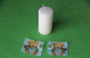 заготовки для декупажа свечи