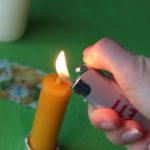 процесс декора свечи 1