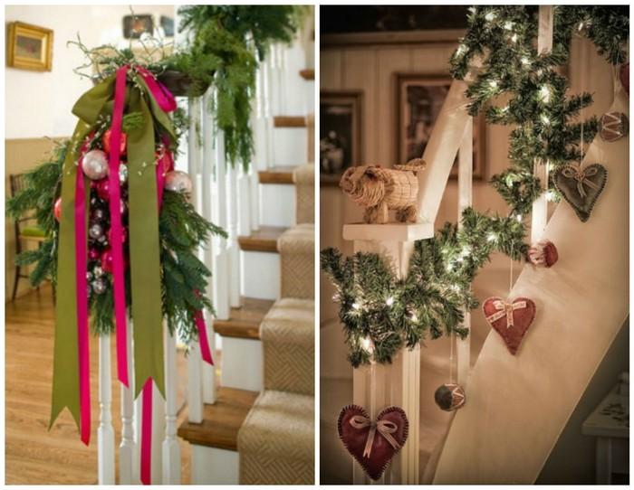 аксессуары для лестницы дома к новому году