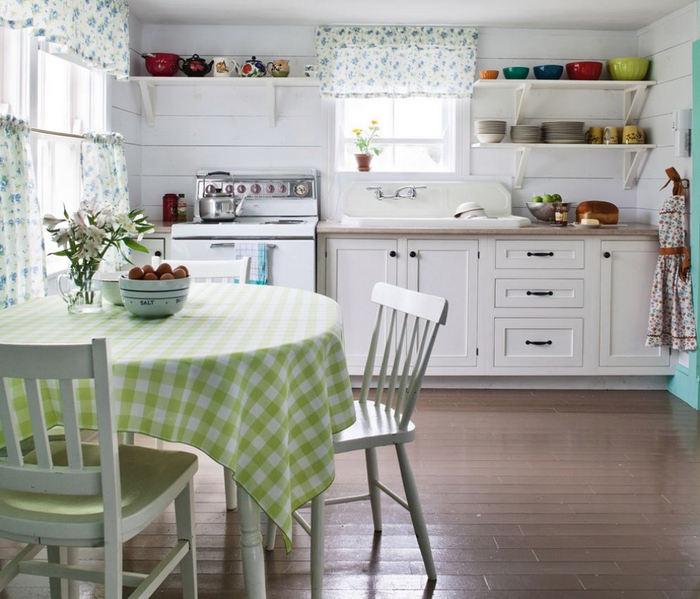Столовый текстиль в интерьере кухни