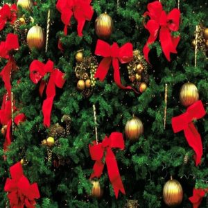 банты красного цвета на елку