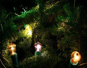 електролампочки на елке