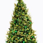 зеленый цвет в оформлении елки