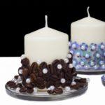 свечи декорированные кофем