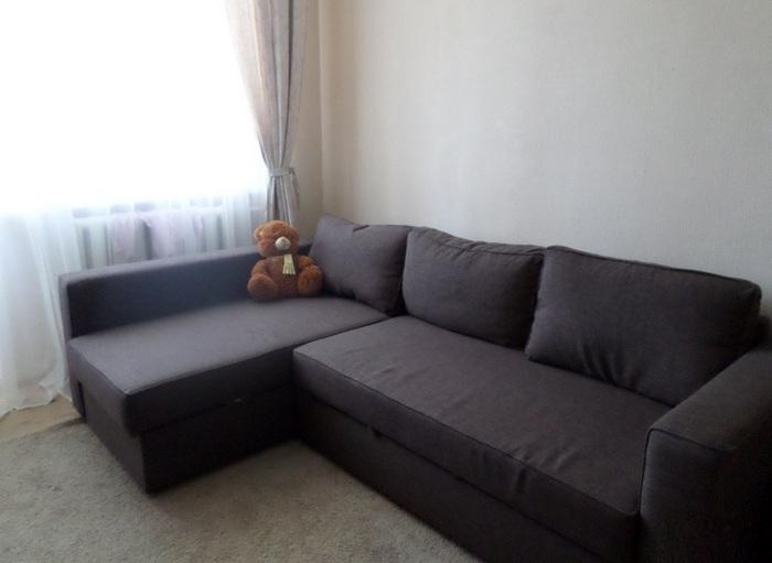 большой углово серый диван от икеа 22