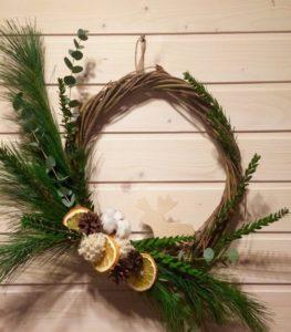 материалы для украшения и создания новогоднего венка 2
