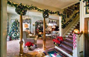 пример дизайна гостиной к новому году