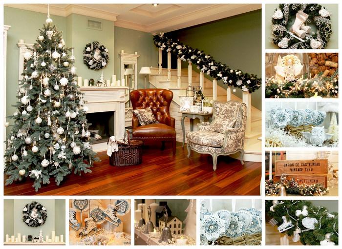фото серия декорирования помещения на новый год