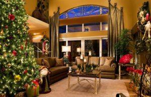 пример дизайна гостиной к новому году 2