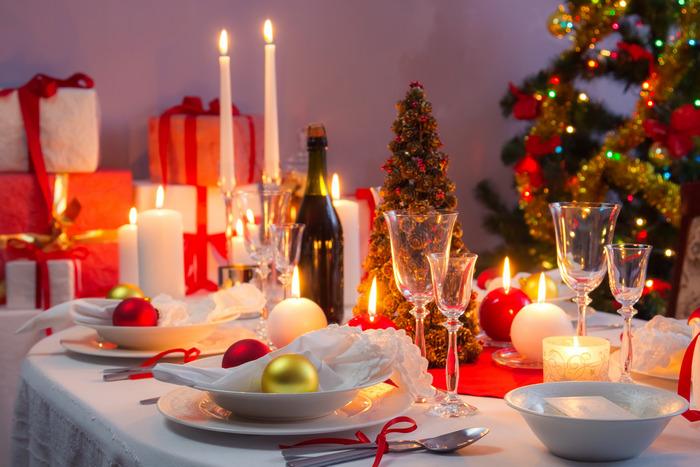 новогодний праздничный стол 4