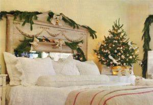 новогодний декор спальни
