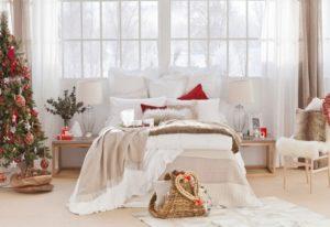 новогодний декор спальни 2