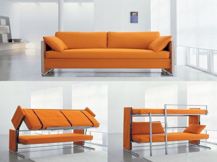 Диван-кровать в стиле рустик