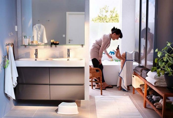 Дизайн ванной от ИКЕА