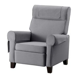 кресло икеа серое