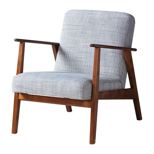 серое кресло икеа