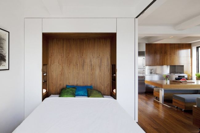 Кровать-трансформер в нише