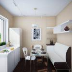 кухня 9 м2 с диваном