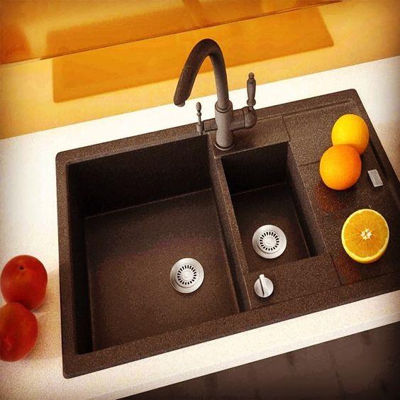 Кухонная мойка прямоугольной формы