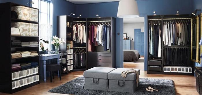 Мебель от ИКЕА в интерьере гардеробной