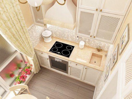 Прямоугольный кухонный гарнитур
