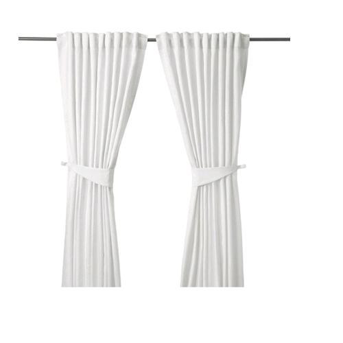 светлые шторы икеа