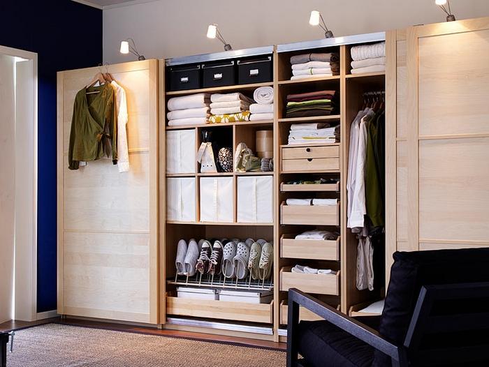 Современный гардероб от ИКЕА