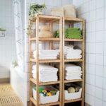 Стильная мебель из дерева в ванную