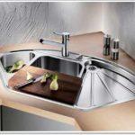 кухонная угловая стальная мойка