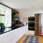 угловая кухня большая
