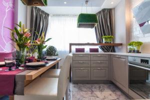 уютный и функциональный кухонный уголок