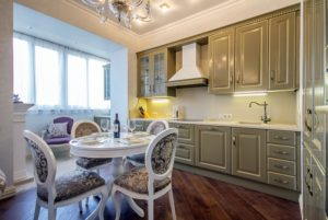 уютный и функциональный кухонный уголок 07a
