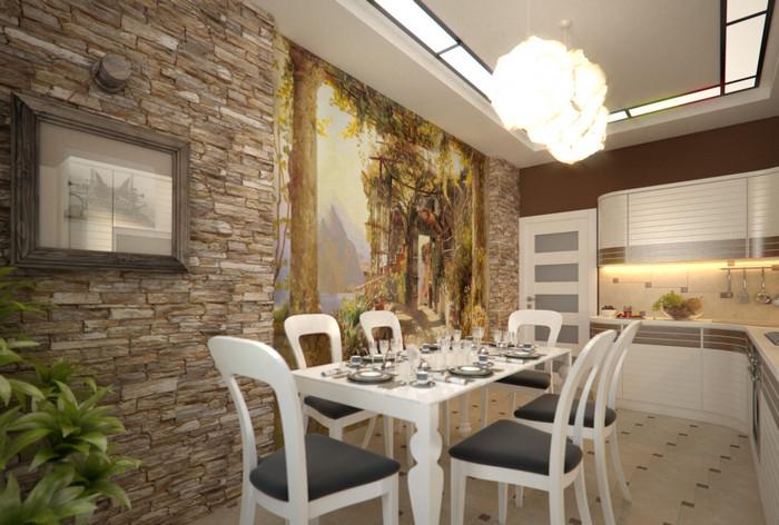 Современные идеи дизайна для просторной кухни