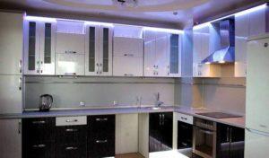 Освещение на кухне зависит от цвета стен 31a