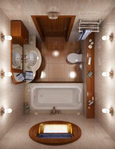 Идея оформление маленькой ванной
