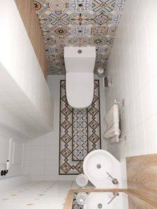 Оформление туалета плиткой