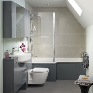 Подвесной унитаз в маленькой ванной