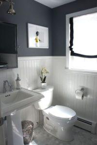 Серебристые стены в ванной