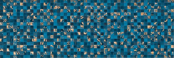 Синяя пиксельная плитка