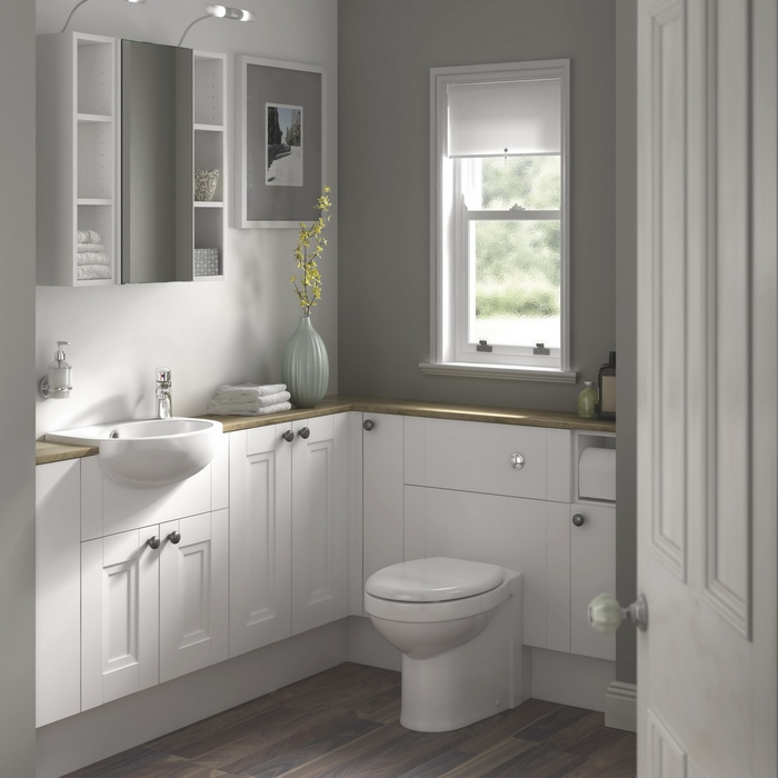 Современный дизайн небольшого туалета