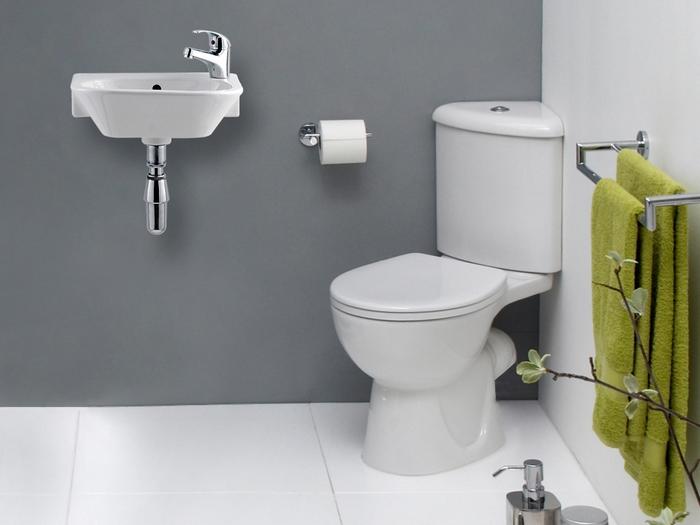 Современный маленькой туалет