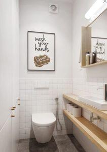 Туалет с подвесным унитазом