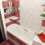 Яркое оформление ванной