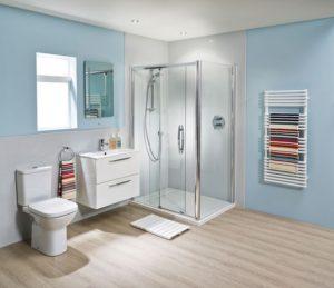 Акриловые панели на стенах ванной