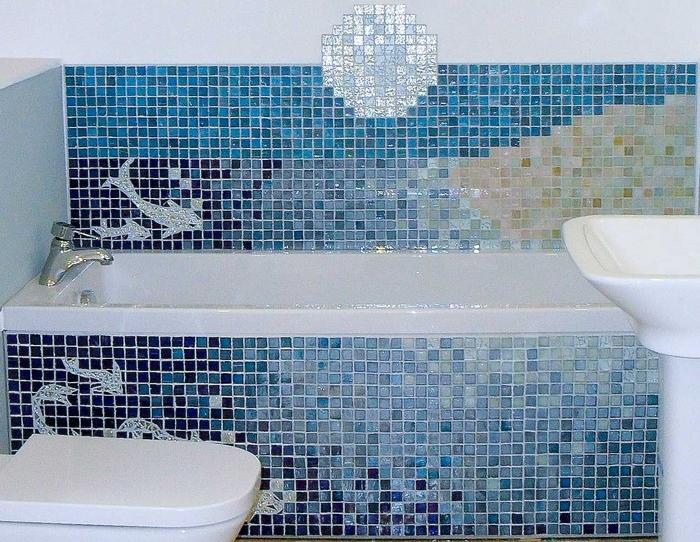 Мозаика в голубых тонах